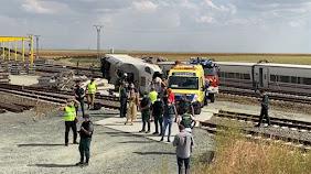 Grave accidente de un Alvia con un maquinista y el conductor del coche que cayó a la vía fallecidos