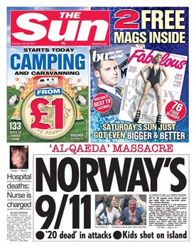 Every british national newspaper put this atrocity on the front