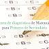 Exámenes de diagnóstico de matemáticas para los tres grados de secundaria