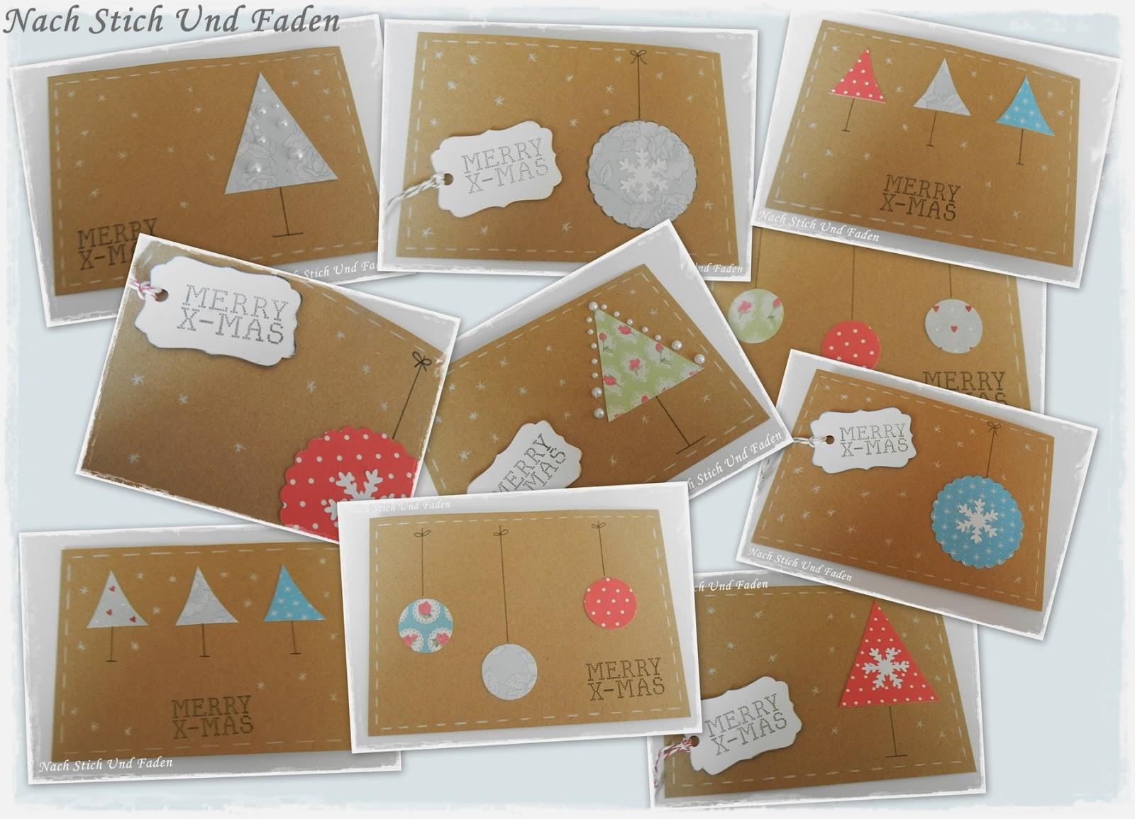 nach stich und faden diy weihnachtskarten f r eilige. Black Bedroom Furniture Sets. Home Design Ideas