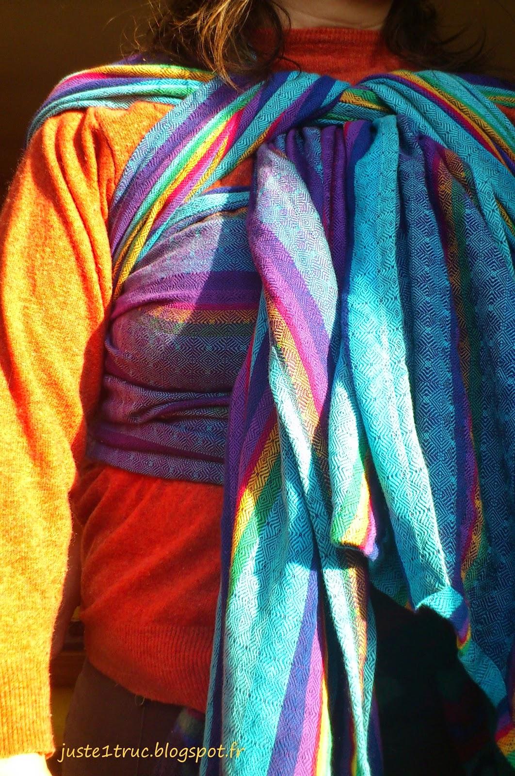 babywearing portage vanamo wrap écharpe review rainbow ruutu sateenkaari DHS2S wearababy