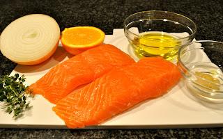 One Classy Dish: Roasted Salmon with Orange Thyme Vinaigrette