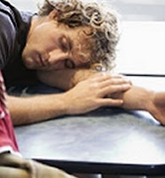 Sleeping during a presentation meeting