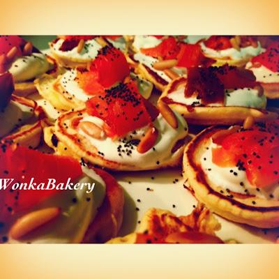 pancake al salmone affumicato...aperitivo fase 2