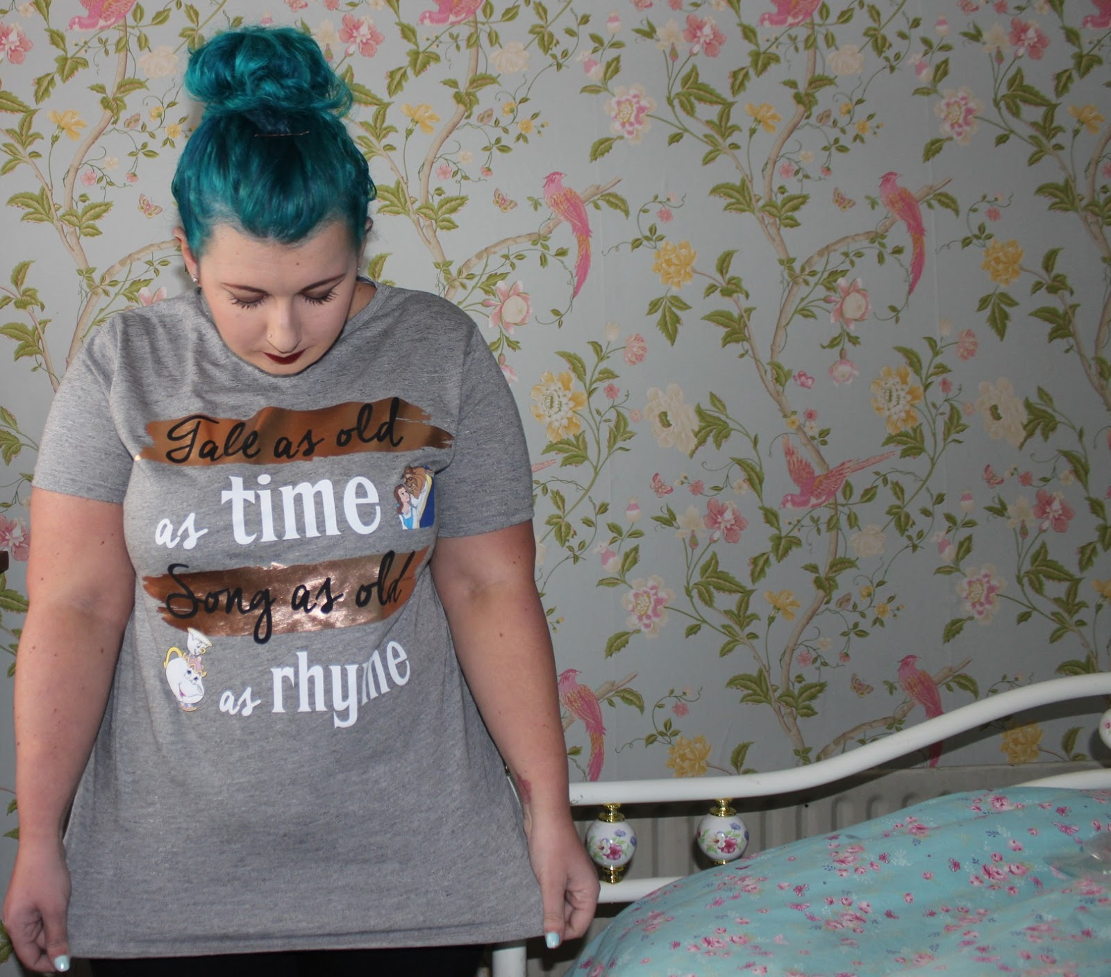 primark beauty and the beast tee