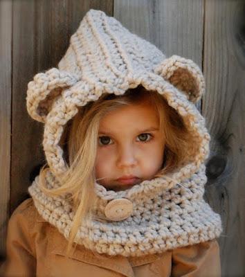 gorros tejidos para niña de punto