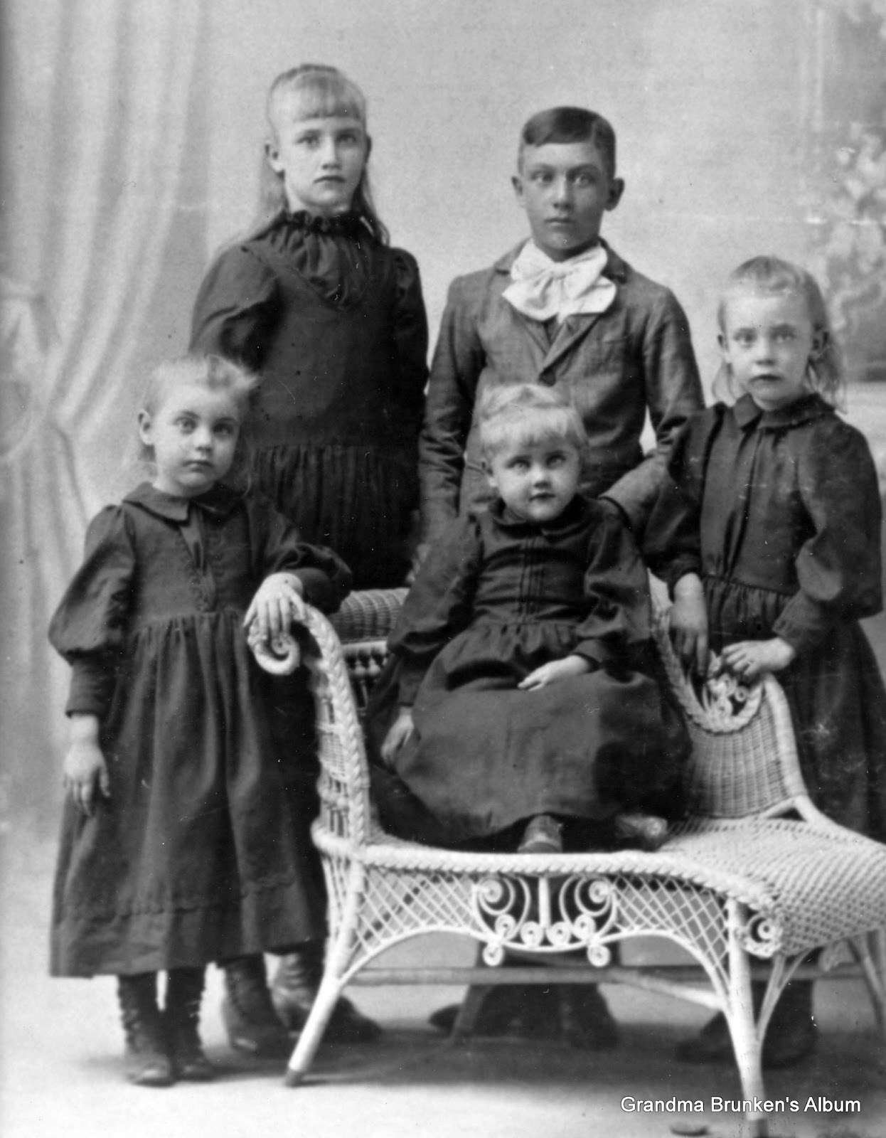 Children Of Carsten Petersen, Sr. - Circa 1894