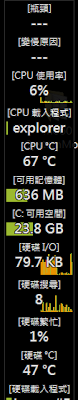 多功能系統即時運作參數資訊列,Moo0 SystemMonitor V1.76 多國語言綠色免安裝版!