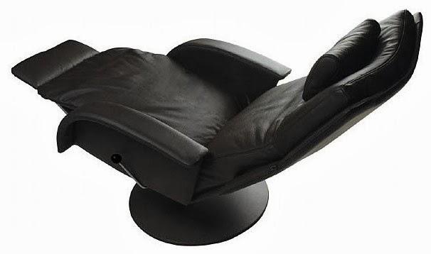 fauteuil noir en cuir inclinable