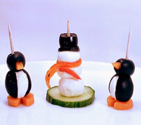 Снежни човеци хапки на клечка