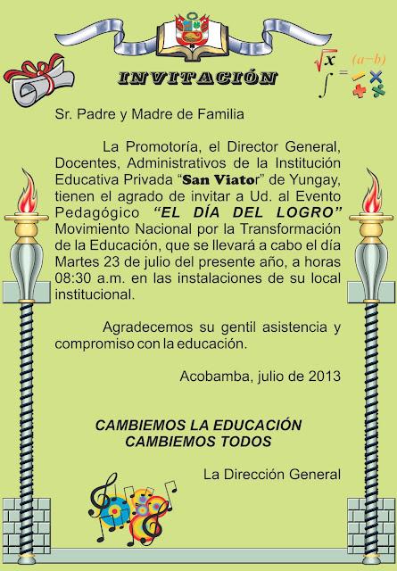 COLEGIO SAN VIATOR: EL DÍA DEL LOGRO VIATORIANO 2013