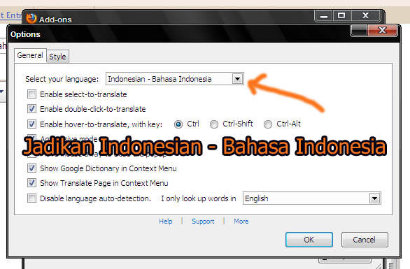 how to translate a page in firefox