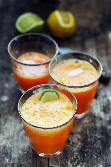 J'aime quand vous faites naître mes recettes… Le Doufrui orange carotte gingembre et citron vert peut-être mon cocktail de l'été…
