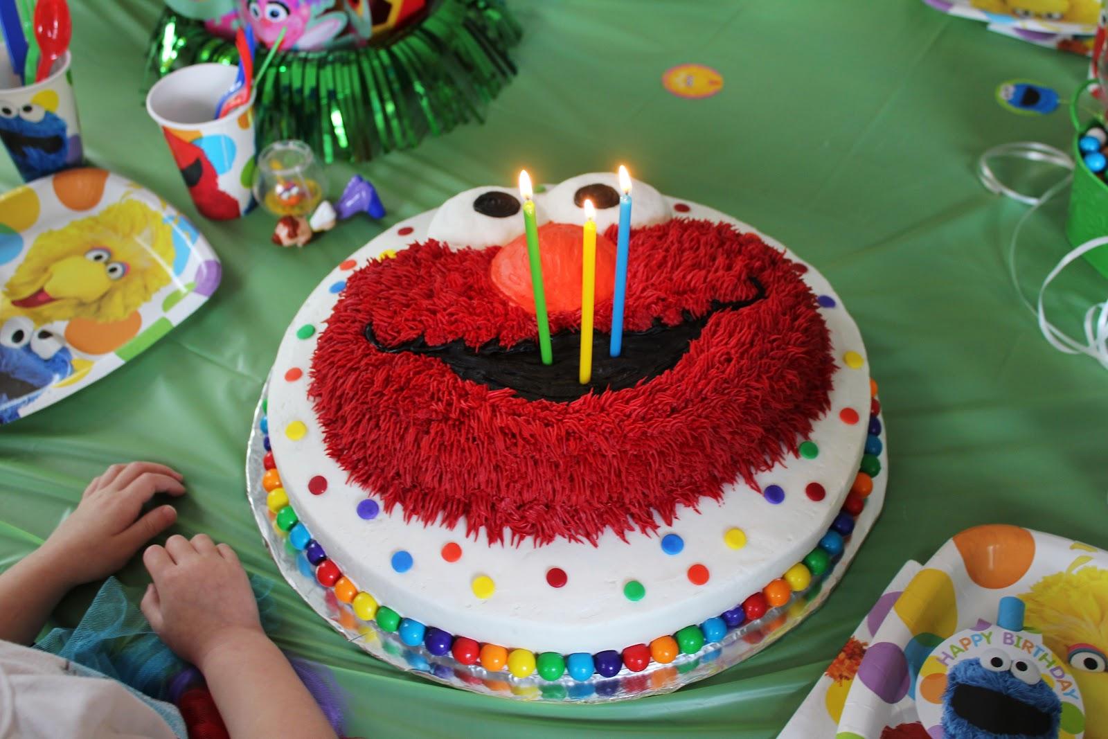 Say It Sweetly Sesame Street Birthday With Elmo Cake April 1 2012