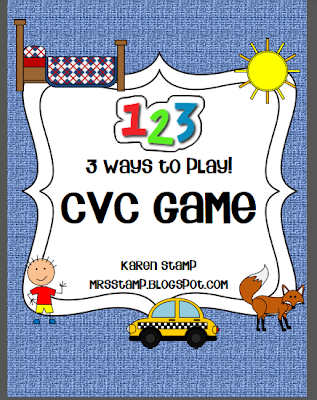 http://www.teacherspayteachers.com/Product/3-Ways-to-Play-CVC-Game-514884