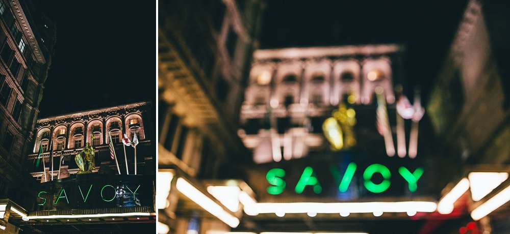 the savoy hotel entrance sign