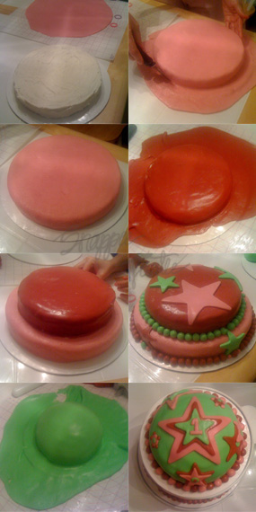 StarCakeTutorial Make a Fondant Birthday Cake