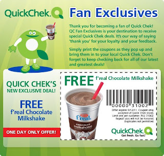 Free f'real Chocolate Milkshake at QuickChek (Today Only)