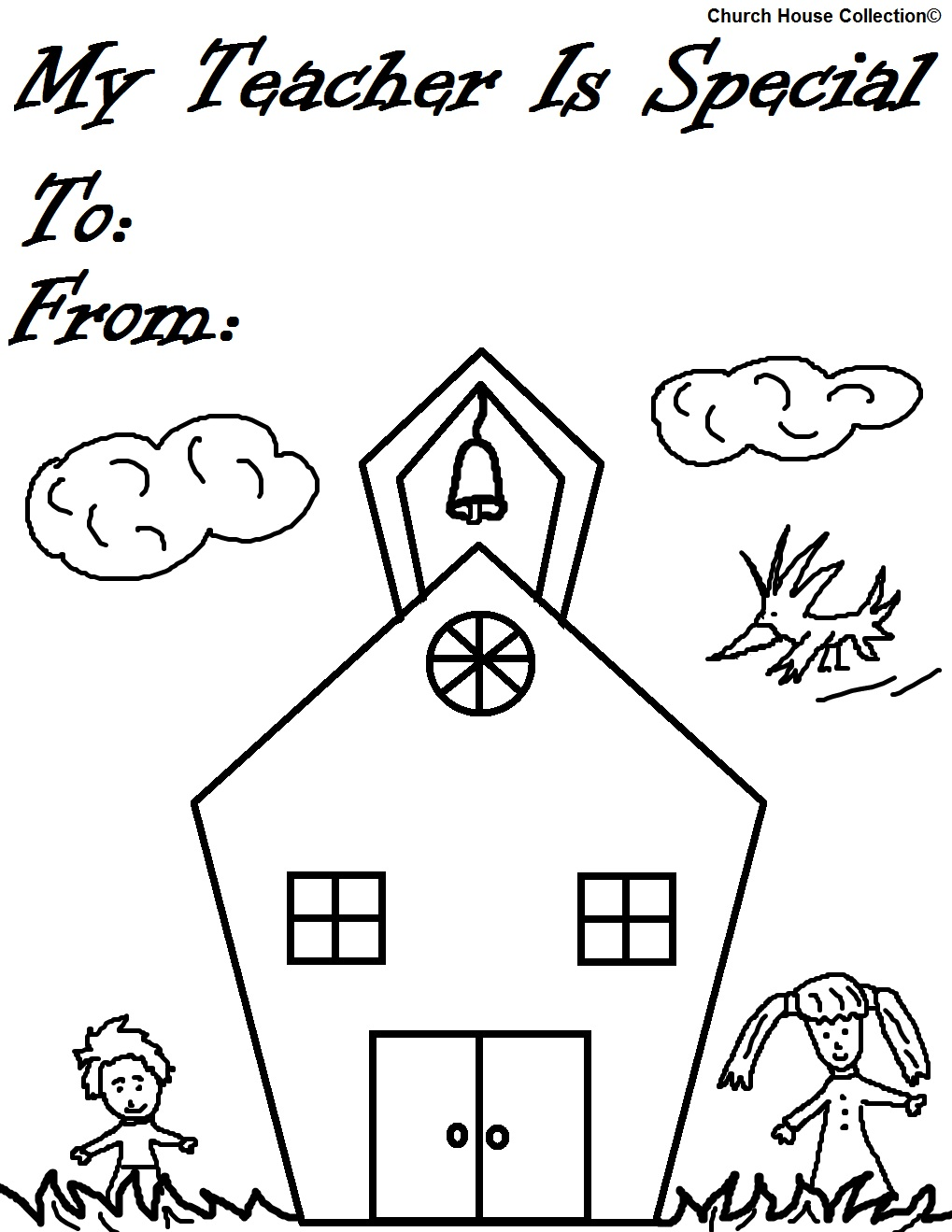 Coloring Pages For Your Teacher : Church house collection my teacher is special
