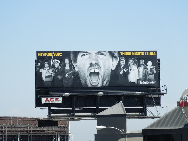 NTSFSDSUV season two adult swim billboard