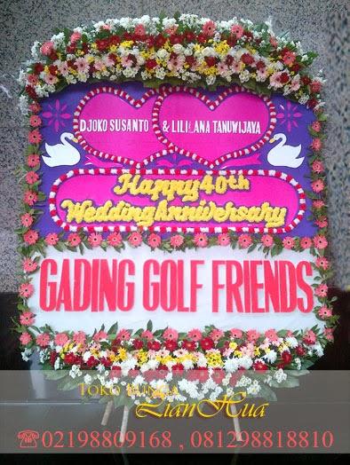 karangan bunga papan ulang tahun pernikahan