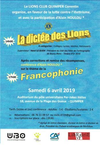 Dictée Du Lions club Quimper
