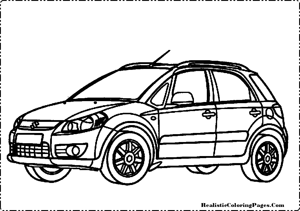 Colouring Pages Of Car Crash : Car and truck accident coloring pages