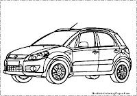 Suzuki SX-4 coloring page