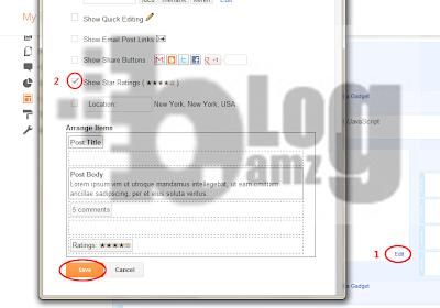 Cara Memasang Star Rating Google untuk Blogger