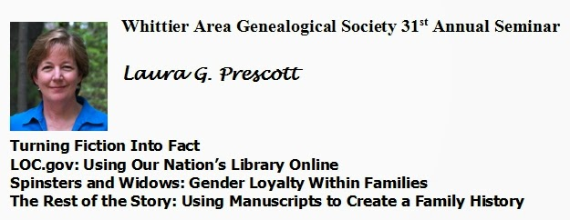 Whittier Area Genealogical Society Annual Seminar Blog
