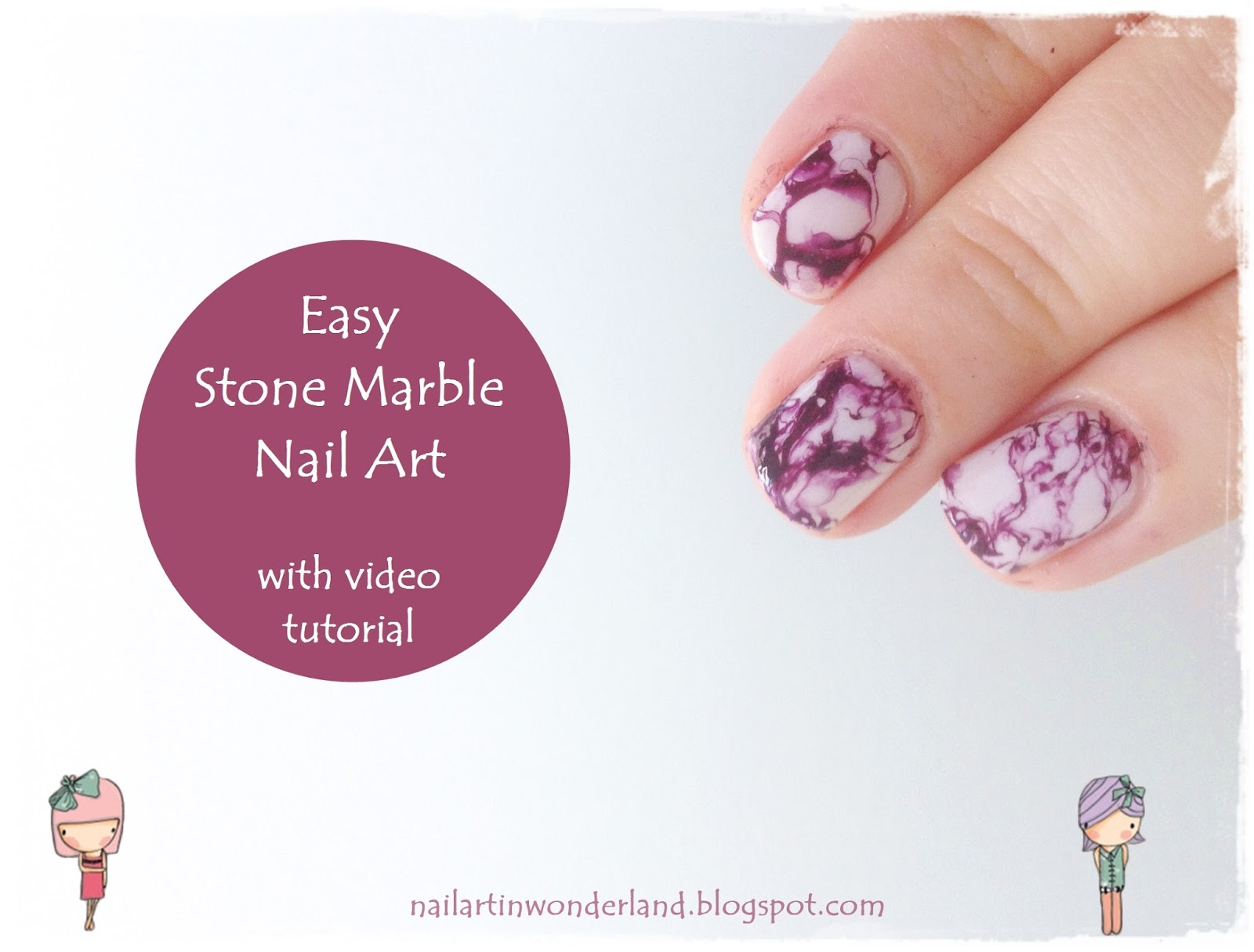 Tırnaklarda Kolay Mermer Deseni / Easy Stone Marble Nail Art Video Tutorial