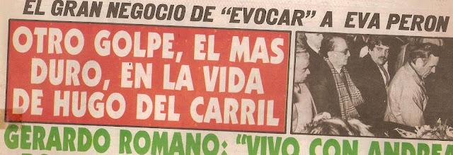 prensa en el fallecimiento de su esposa violeta diarios hugo del carril