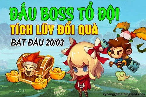 Event thi đấu boss tổ đội gunbao
