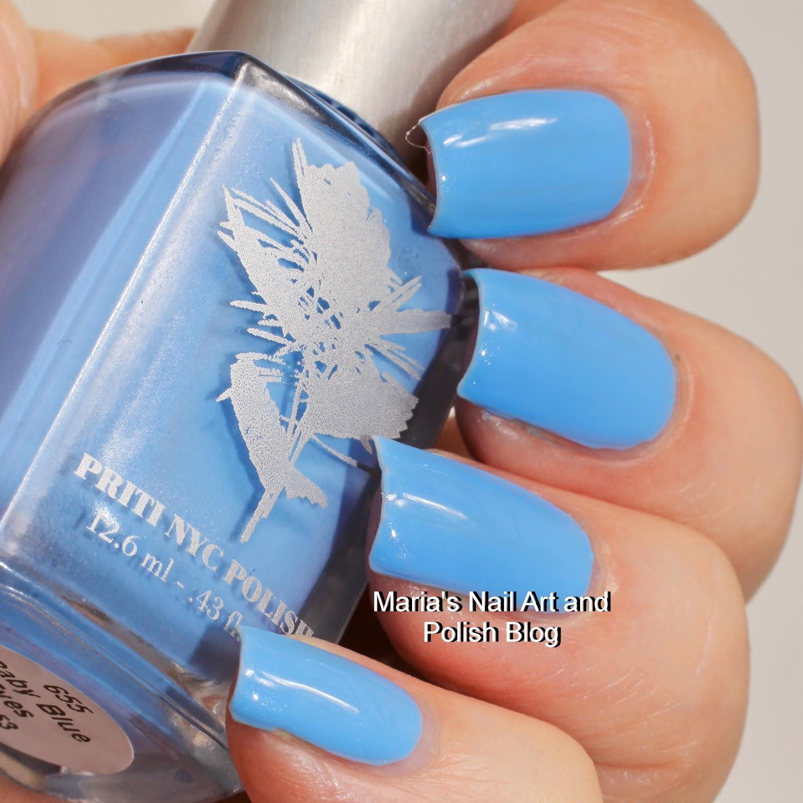Marias Nail Art and Polish Blog: Priti Nyc Baby Blue Eyes, Glory ...