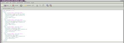 Imagen de un archivo xml ordenado