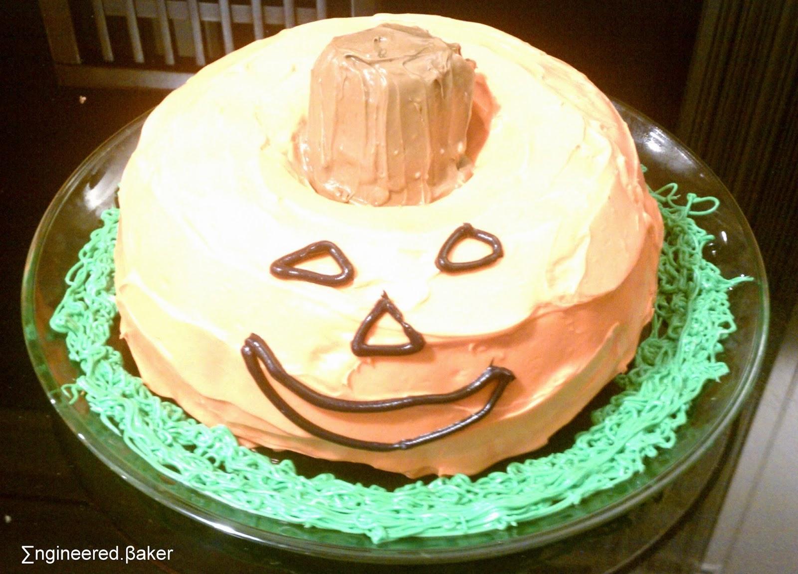the engineered baker: decorating idea: the jack-o-lantern bundt cake