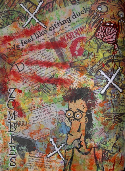 zombie art collage