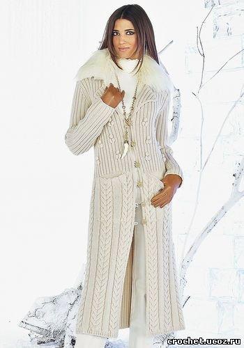 Вязаное пальто фото /