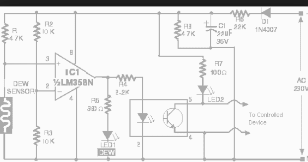wiring schematic diagram  lm358n