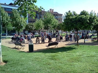 Vista de actividad de ocio en el parque
