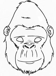 Маска-обезьяна-горилла