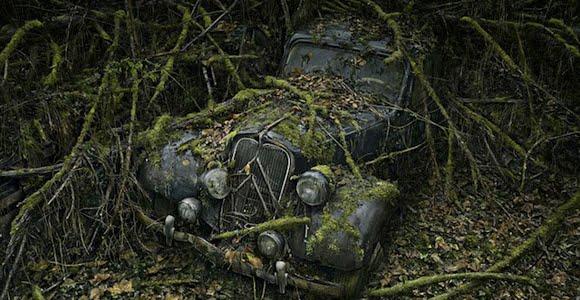 Fotos de autos antiguos abandonados