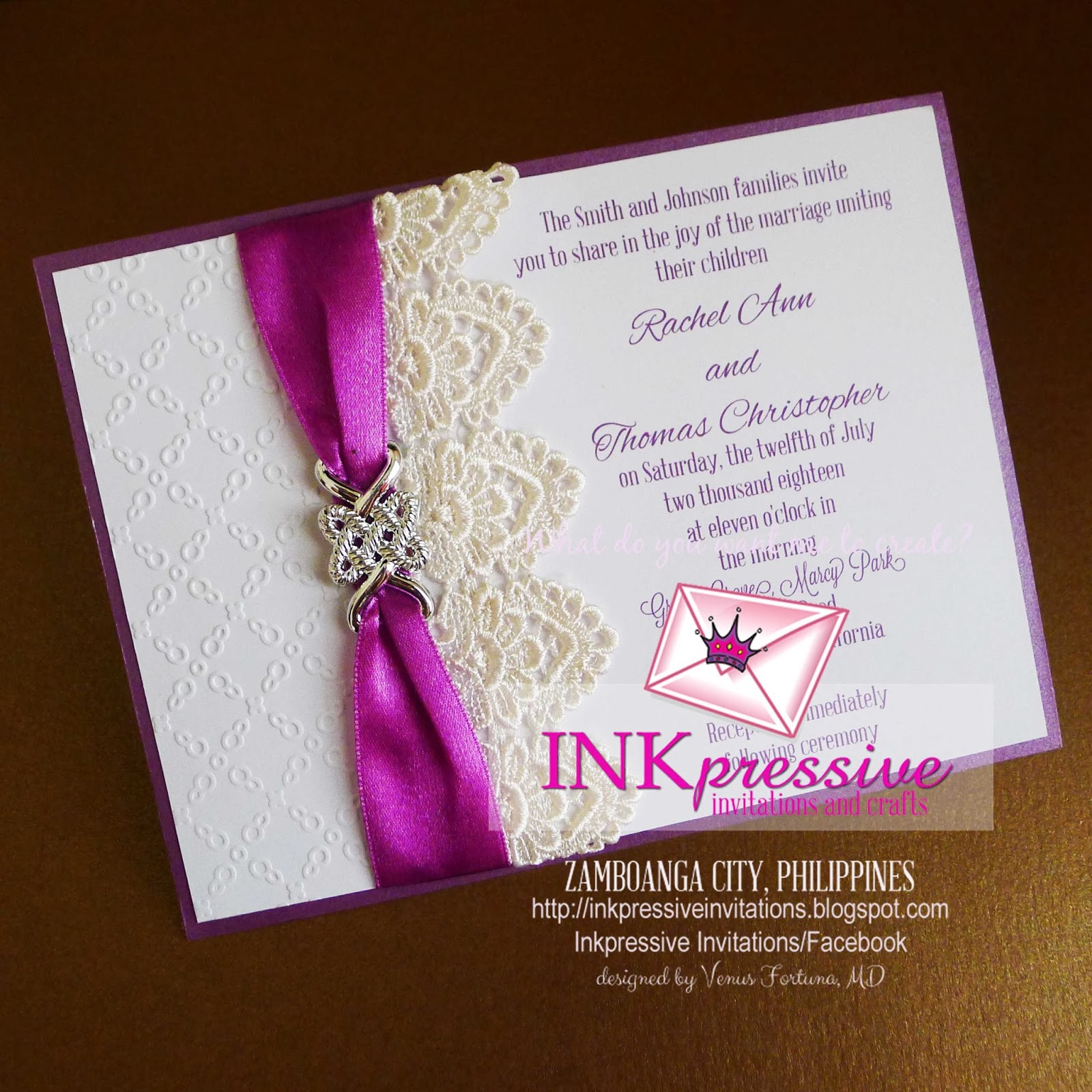Embossed Invitation for good invitations example