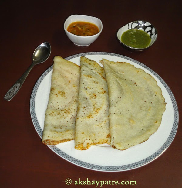 another picture of rava dosa