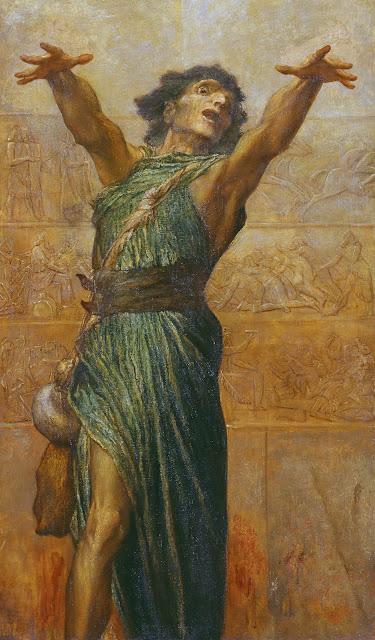 Jonah,george frederick watts,symbolist painting