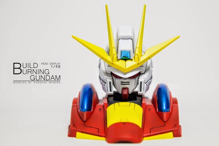 head display build burning gundam build fighters