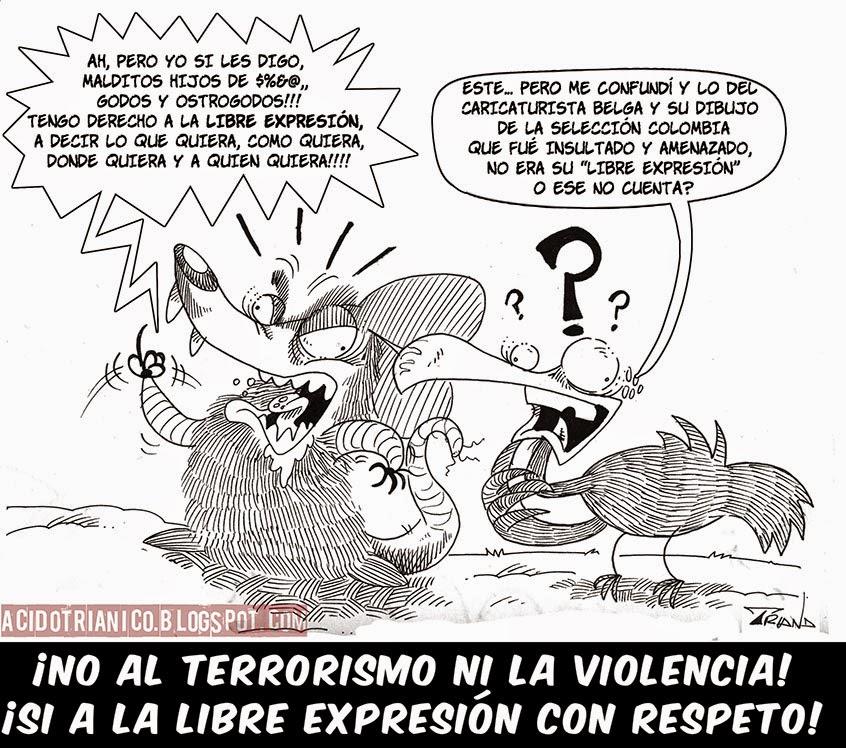 NO AL TERRORISMO NI LA VIOLENCIA!