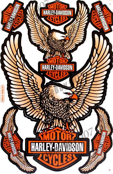 Harley-Davidson Eagle Decals