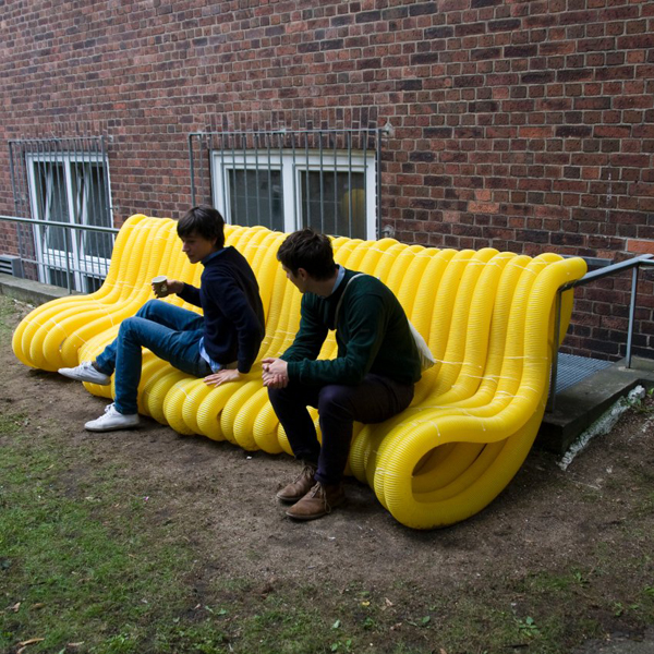 street furniture guerilla seating in hamburg by oliver schau. Black Bedroom Furniture Sets. Home Design Ideas