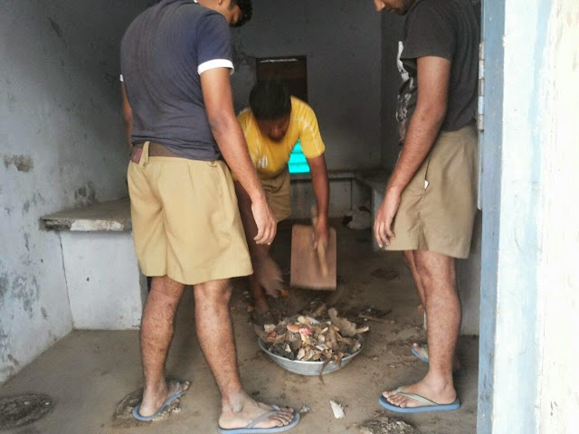 Seva activity by swayamsevaks